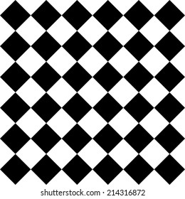 Seamless Monochrome Checkered Pattern