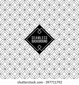 seamless monochrome fashion abstract black and white wallpaper pattern or background with hipster label or badge for flayer poster logo or t-shirt apparel clothing print