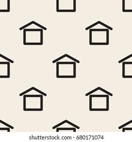 seamless monochrome  house pattern background