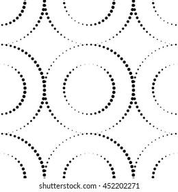 Seamless Monochrome Pattern. Seamless Dots Pattern.