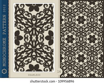 Seamless monochrome pattern | Vector illustration