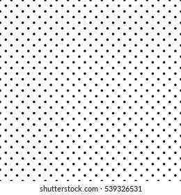 Seamless monochrome polka dot pattern. Dotted background