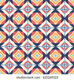 Seamless Moroccan Style Patterns, Repeating geometric tiles, Retro Background
