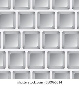 Seamless mosaic from gray squares. Vector illustration