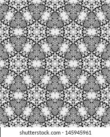 Seamless mosaic pattern in black and white