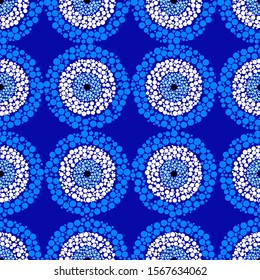 Seamless mosaic pattern with Turkish evil eye bead. Good luck tile. Oriental ottoman design vector background. Perfect for wallpapers, pattern fills, web page backgrounds, surface textures, textile