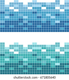 Seamless mosaic vector patterned tile. Tile for design repair of apartments. Vector template Layout.