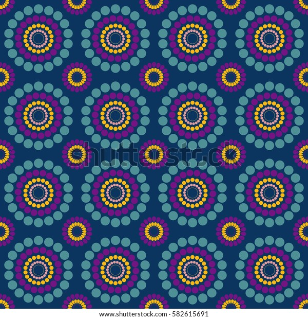 seamless multicolor pattern blue