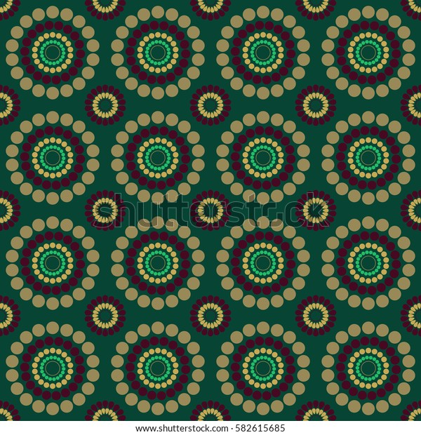 seamless multicolor pattern green