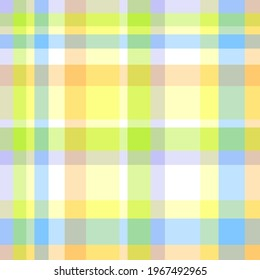 Seamless multicolored pattern. Checkered texture. Abstract geometric texture for design. Light colors. Print for shirts and textiles
