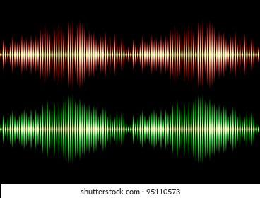 Seamless music wave pattern