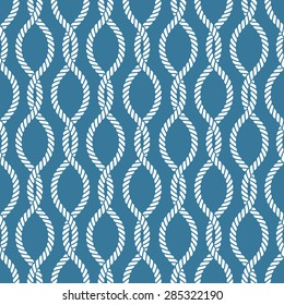 Seamless nautical rope knot pattern, fishing net