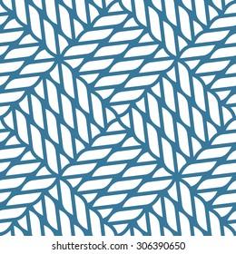 Seamless nautical rope knot pattern, fishing net, lattice