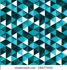 Seamless neon triangle prisms abstract pattern background