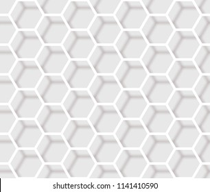 Seamless Network Hexagon Background. Vector eps10.