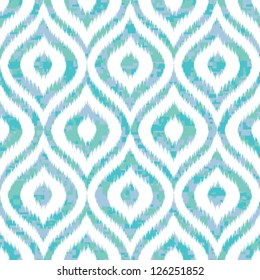 Seamless Ogee Camouflage Background in Ikat Weave Pattern
