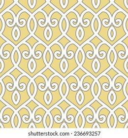 Seamless Ogee Trellis Background Pattern
