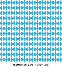 Seamless Oktoberfest Beer Festival Celebration Pattern with Blue and White colors Bavaria flag. Vector illustration