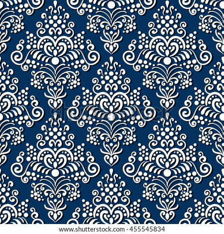 Seamless old style pattern. Vintage background. Classic style texture. For wallpaper, textile