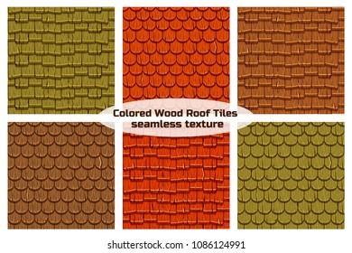 Seamless Old Wood Roof Tiles