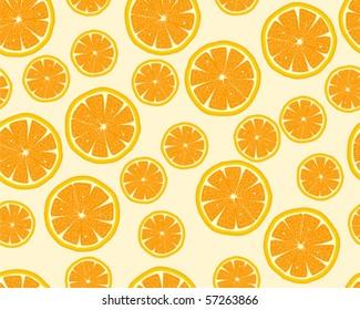 Seamless orange slices background