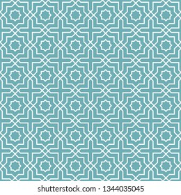 Seamless oriental pattern. Islamic background. Arabic linear texture. Vector illustration