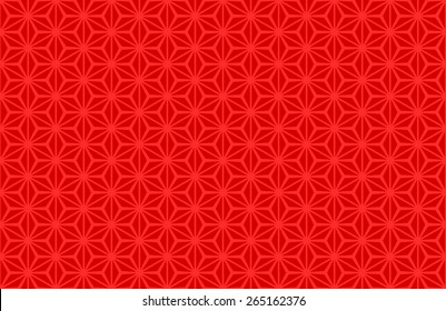 Seamless Oriental Pattern of Red Color, Usually Used to Decorate Old Chinese Artifacts. It is also used on Old Wooden Chinese Windows.