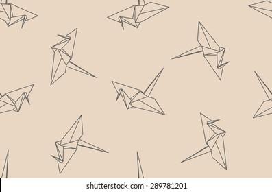 graphic relating to Origami Crane Instructions Printable referred to as Imágenes, fotos de inventory y vectores sobre Origami Crane