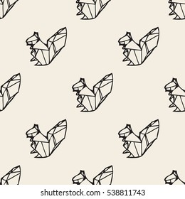 SEAMLESS ORIGAMI SQUIRREL PATTERN BACKGROUND