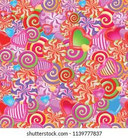 seamless original pattern of colored caramel