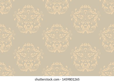 Seamless ornament on background. Floral ornament on background. Wallpaper pattern