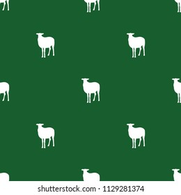 Seamless ornament with silhouettes of sheeps. Agricultural pattern.