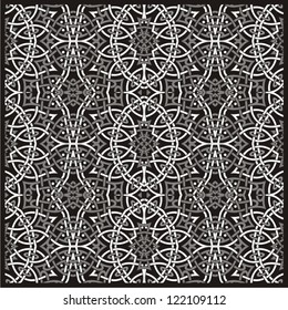 Seamless ornamental lace flower pattern