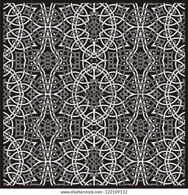 Seamless ornamental lace flower pattern