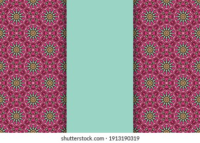 seamless ornamental mandala design background