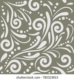 Seamless ornamental pattern for design. Vector