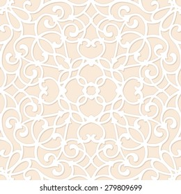 Seamless ornamental pattern. Vector illustration