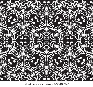 seamless ornamental pattern, vector illustration