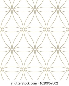 Seamless ornamental vector pattern in golden style