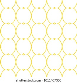 Seamless ornamental vector pattern in yellow color