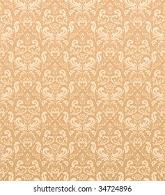 Seamless ornamental wallpaper, illustration