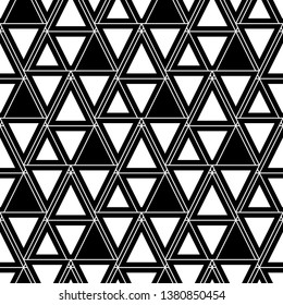 Seamless ornament.Geometrical figures wallpaper. Digital paper, abstract.Geometric background. Shapes backdrop. Triangles, rhombuses, parallelograms, trapeziums pattern