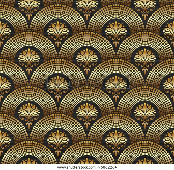 Seamless ornate golden pattern for wallpaper luxury customization
