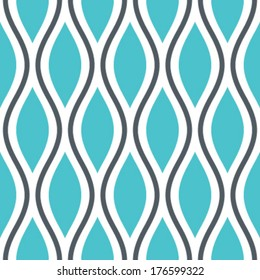 Seamless Oval and Double-S Ogee Background Pattern