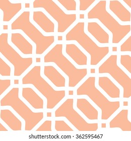 Seamless overlapping octagon pattern vector background tile