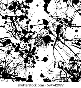 Seamless paint splatter pattern