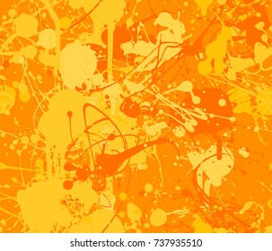 Seamless paint splatter pattern in Amber from the Material Design palette