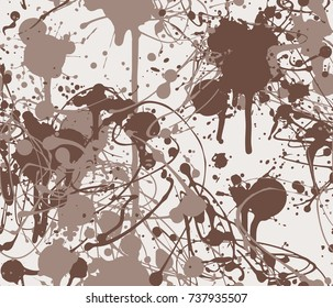Seamless paint splatter pattern in Brown from the Material Design palette