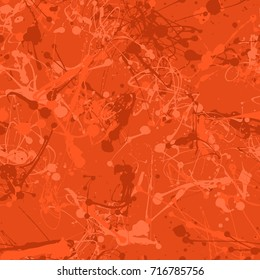 Seamless paint splatter pattern in Deep Orange from the Material Design palette