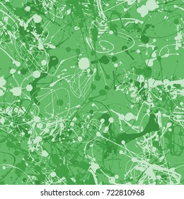 Seamless paint splatter pattern in Green from the Material Design palette